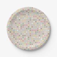 Baby Shower Pastel Polka Dot Paper Plate | Zazzle