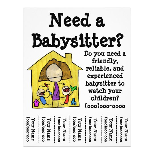 Babysitter Flyer Zazzle