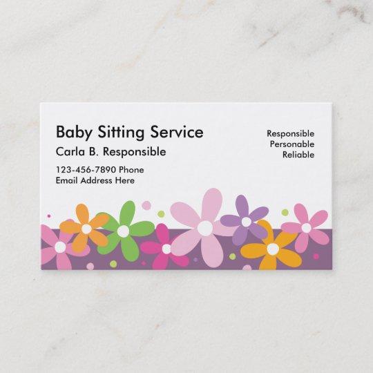 Babysitting Business Cards Zazzle
