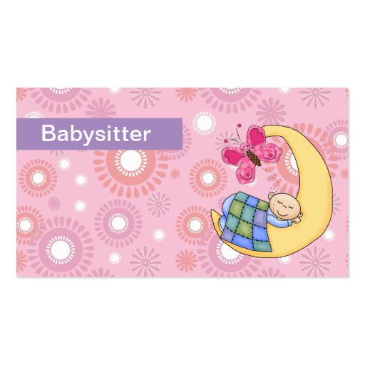 Babysitting business cards Business Card Templates BizCardStudio - baby sitting cards