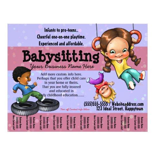 babysitting flyer ideas