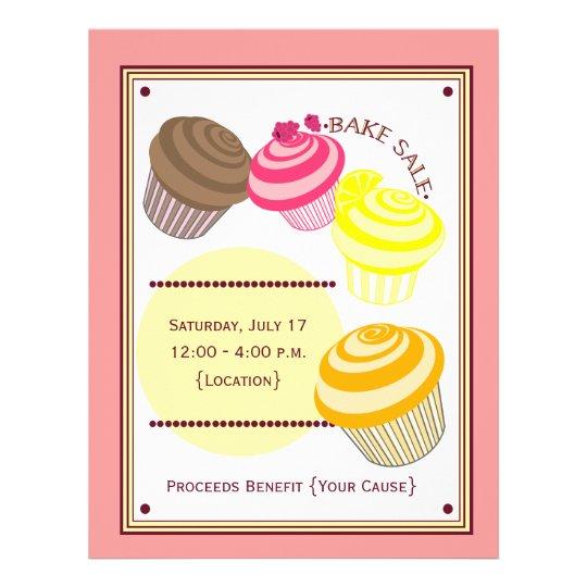 Bake Sale Flyer - Cupcakes Zazzle