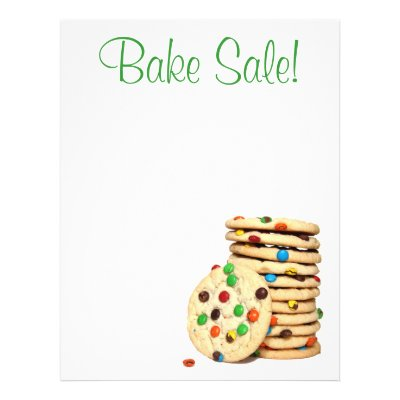 Bake Sale Flyers, Sweet Pink Swirls Flyer Zazzle