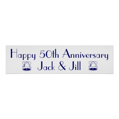 Happy Anniversary Banner Type Poster Zazzle