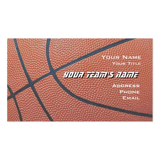 Basketball Hoop Net_texture look_hoop net on blue Business Card Template