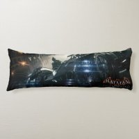 Batman With Batmobile In The Rain Body Pillow