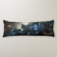 Batman With Batmobile In The Rain Body Pillow | Zazzle