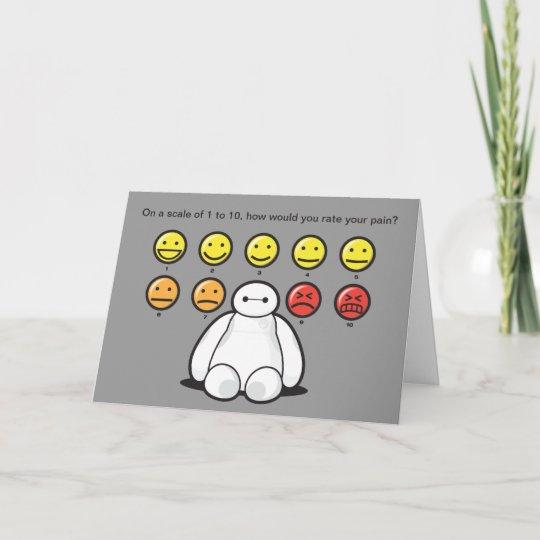 Baymax Emojicons Get Well Card Zazzle