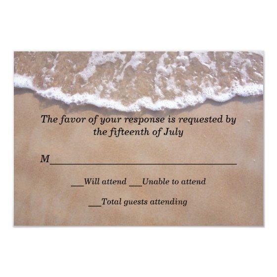 Beach Theme Wedding Response Card