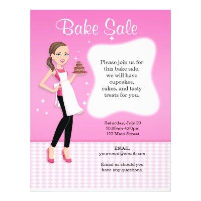 Beautiful Bake Sale Flyer personalized Zazzle