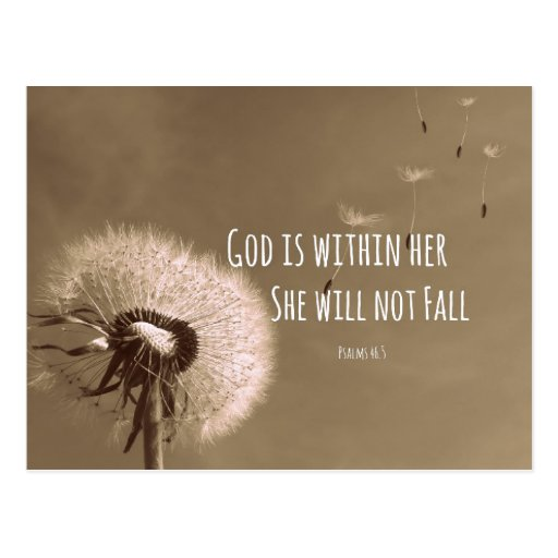 God Is Within Her She Will Not Fall Wallpaper Bible Verse God Is Within Her She Will Not Fall Postcard