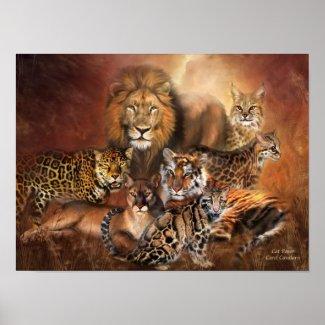 Big Cats Art Poster/Print