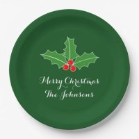 Big disposable Christmas plates for dinner party | Zazzle
