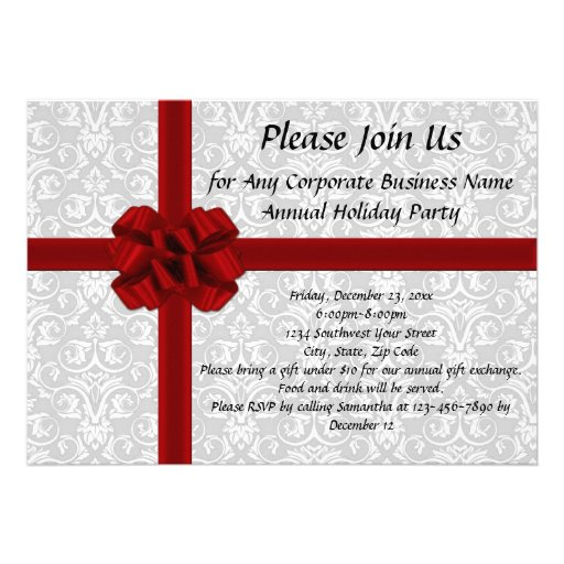 Office Christmas Party Invitations – Holiday Office Party Invitations