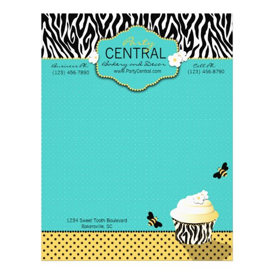 Birthday Bee Letterhead Zazzle