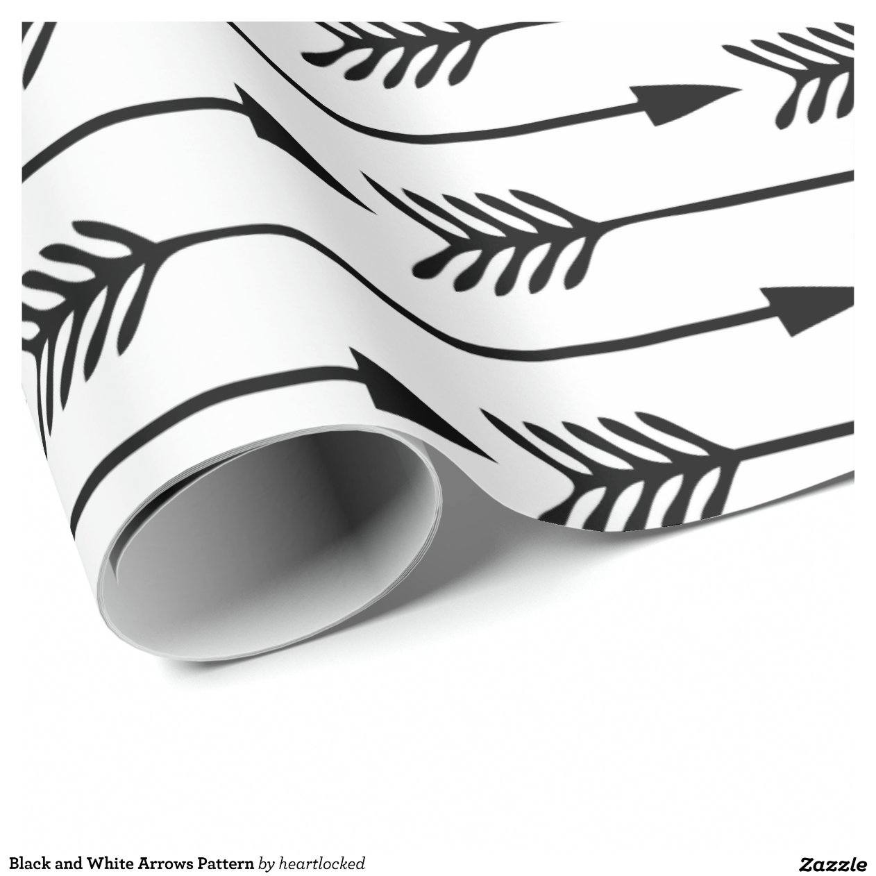 Black And White Wrapping Paper Black And White Arrows Pattern Wrapping Paper