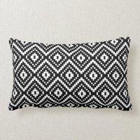 Black and White Aztec Tribal Print Throw Pillow | Zazzle