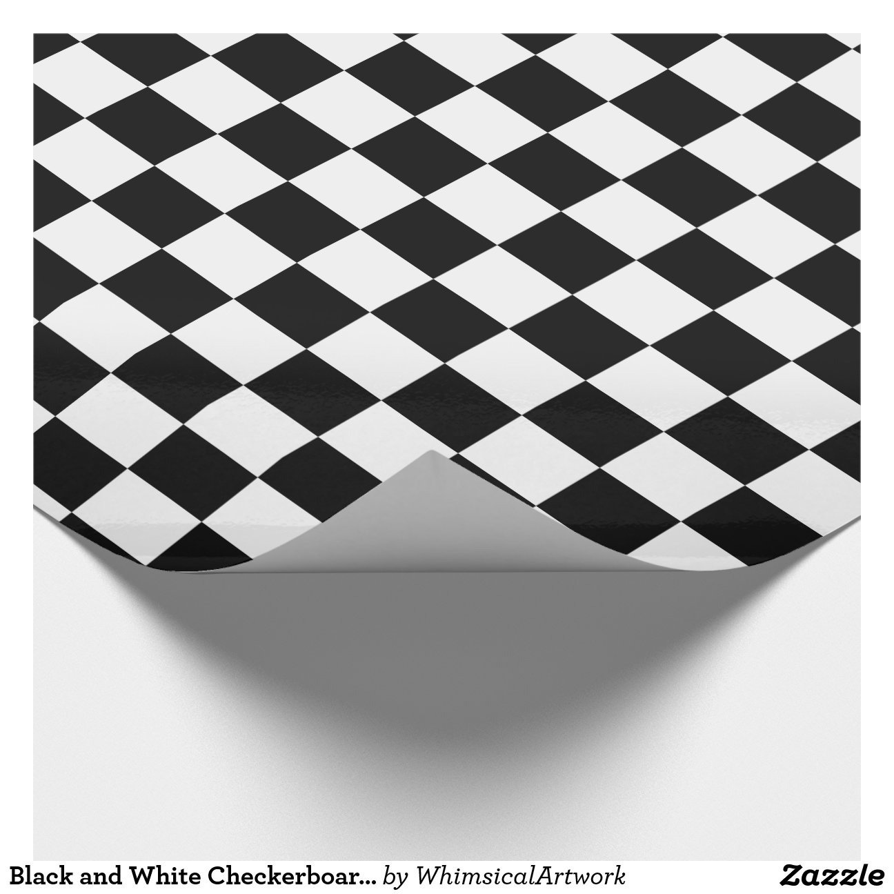 Black And White Wrapping Paper Black And White Checkerboard Wrapping Paper