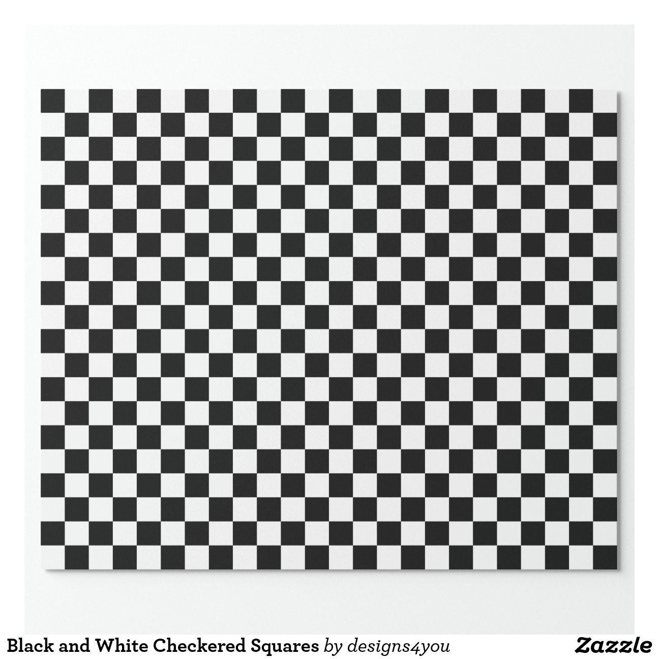 Black And White Wrapping Paper Black And White Checkered Squares Wrapping Paper