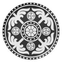 BLACK AND WHITE DECORATIVE PLATE DESIGN | Zazzle.com