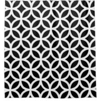 Black And White Pattern Shower Curtains
