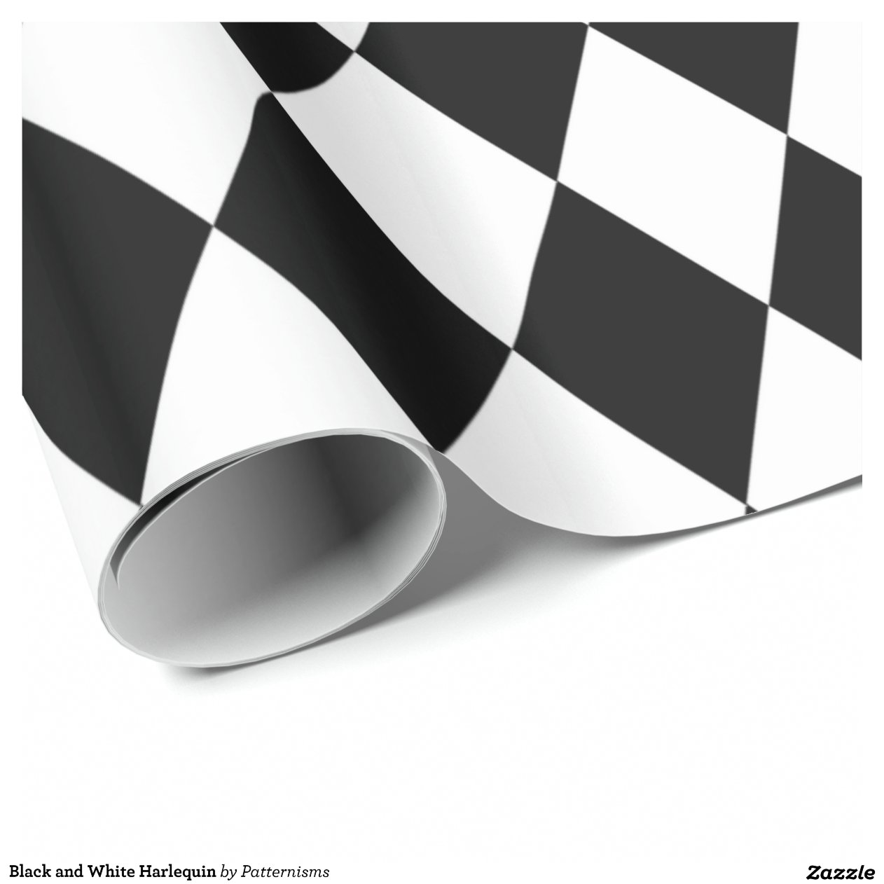 Black And White Wrapping Paper Black And White Harlequin Wrapping Paper
