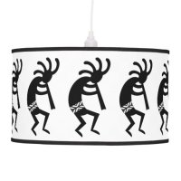 Black And White Kokopelli Southwest Hanging Lamp   Zazzle