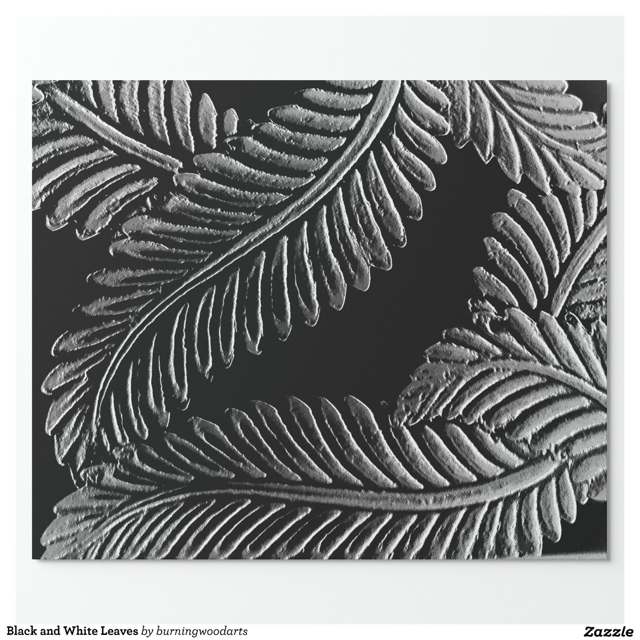 Black And White Wrapping Paper Black And White Leaves Gift Wrapping Paper Zazzle