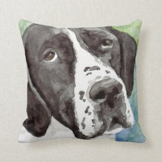 Black and White Pointer Pillow