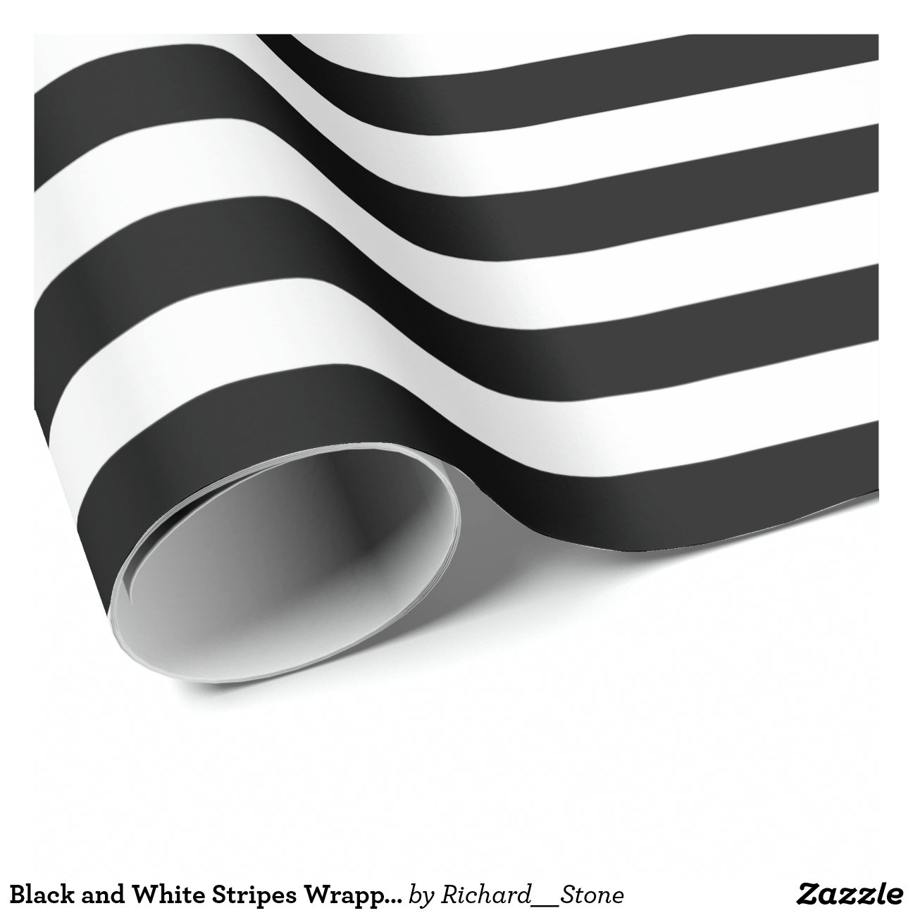 Black And White Wrapping Paper Black And White Stripes Wrapping Paper