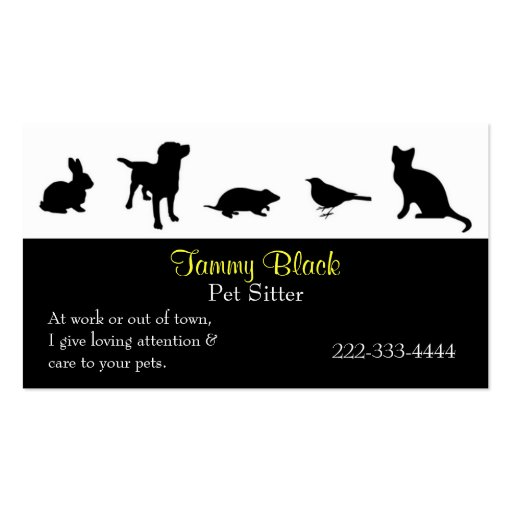 Animal / Pet Care Business Card Templates BizCardStudio