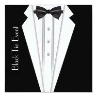 Black Tie White Tuxedo Formal Invitation