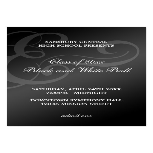 dance admission ticket template - Ball Ticket Template