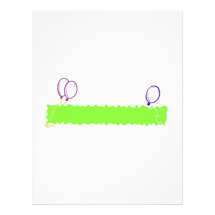 Blank Happy Birthday Banner Letterhead Template on PopScreen