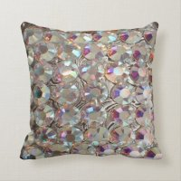 BLING BLING Iridescent Rhinestone Pillow | Zazzle