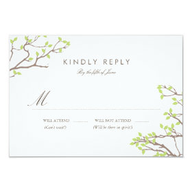 Blissful Branches RSVP 3.5x5 Paper Invitation Card