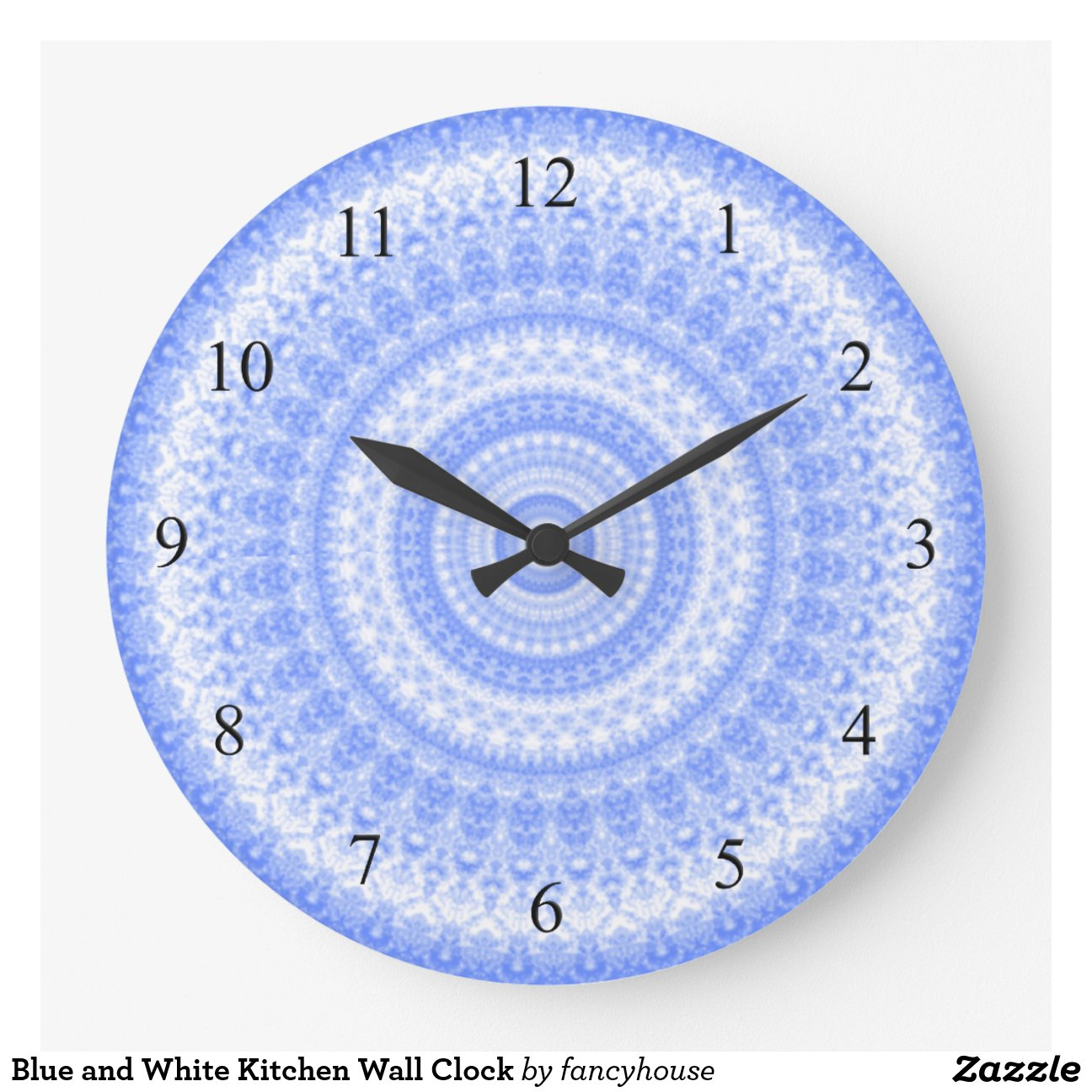 Blue Kitchen Clock Blue And White Kitchen Wall Clock
