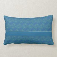 Blue and Yellow Floral Design Sofa Cushion Throw Pillow ...