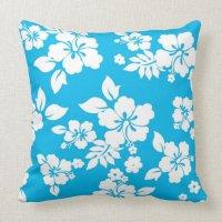 Blue Hawaiian Throw Pillow   Zazzle
