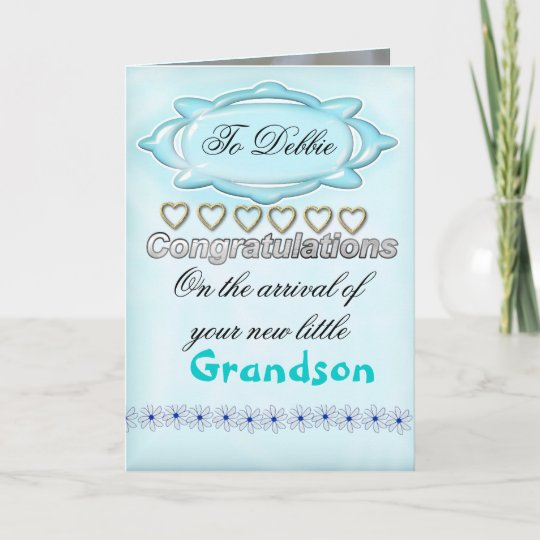 Blue New Baby Congratulations Card, Grandmother Card Zazzle