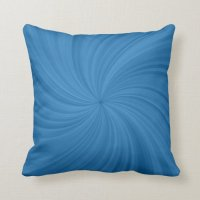 Blue Swirl Designer Decorative Pillow | Zazzle