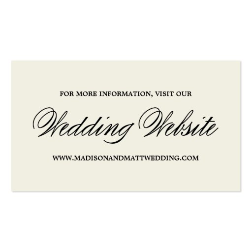 Botanical Glamour | Wedding Website Card Business Card