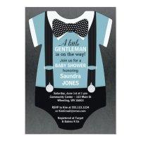 Bow Tie Baby Shower Invitation, Suspender Invite | Zazzle.com