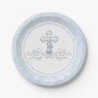 Boy Baptism Paper Plates | Zazzle.com