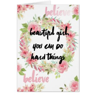 Breast Cancer Encouragement Card With Pink Roses