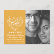 Breathless SAVE THE DATE Postcard- saffron