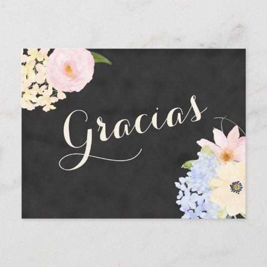 bridal shower thank you note in Spanish Invitation Postcard Zazzle
