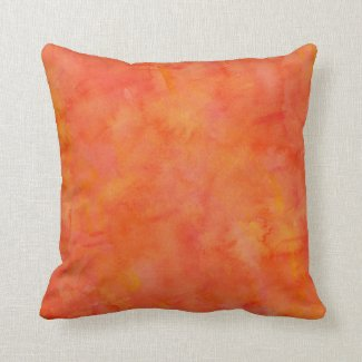Bright Orange Watercolor Texture Pattern