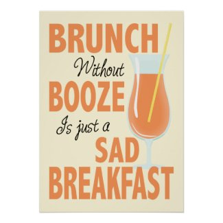 Brunch with no Booze Kitchen Poster