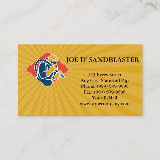 Business card Sandblaster Sandblasting Hose Retro Zazzle
